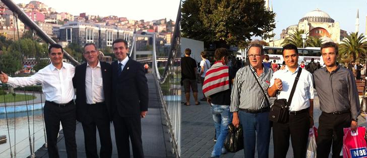 La comparsa y el ayuntamiento de Sax están en Estambul