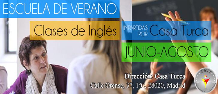 ESCUELA DE VERANO – CLASES DE INGLES
