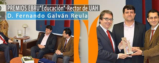 Premio Ebru al Rector de la Universidad de Alcalá