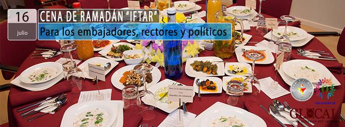 """""""IFTAR"""" para los embajadores, políticos y rectores"""