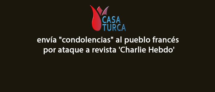 Condolencia a revista 'Charlie Hebdo'